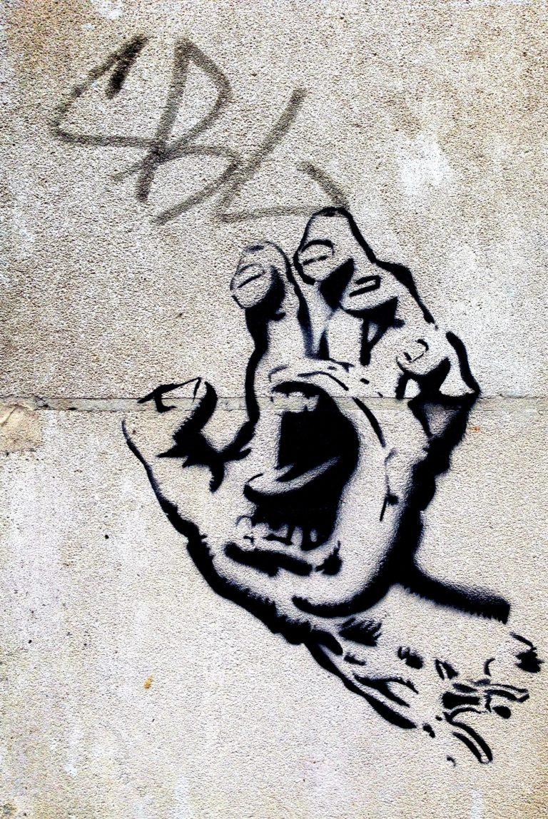angry face graffiti