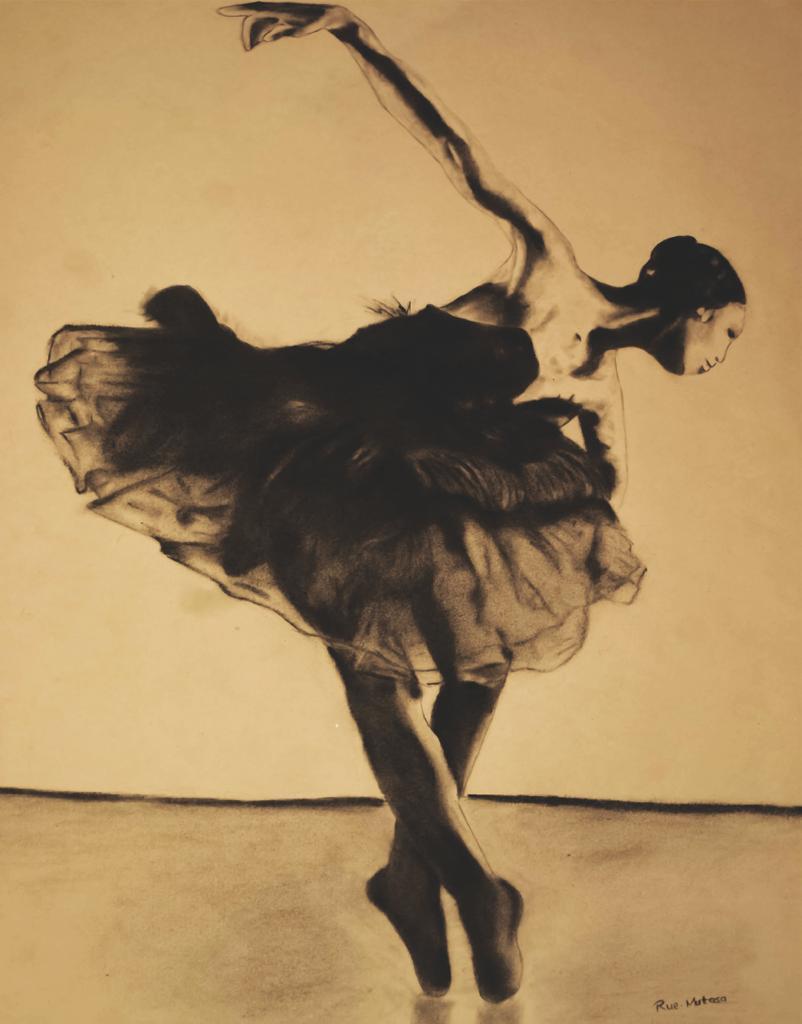 Illustration - Kitty Phetla as the Black Swan