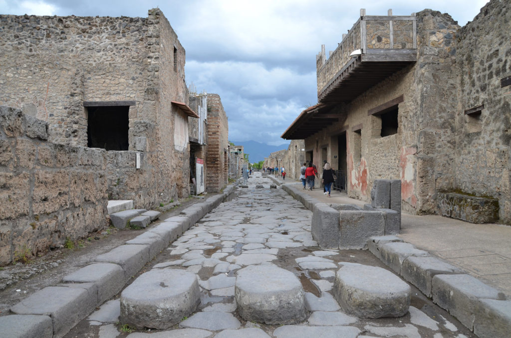Stepping Stones on the streets of Pompeii