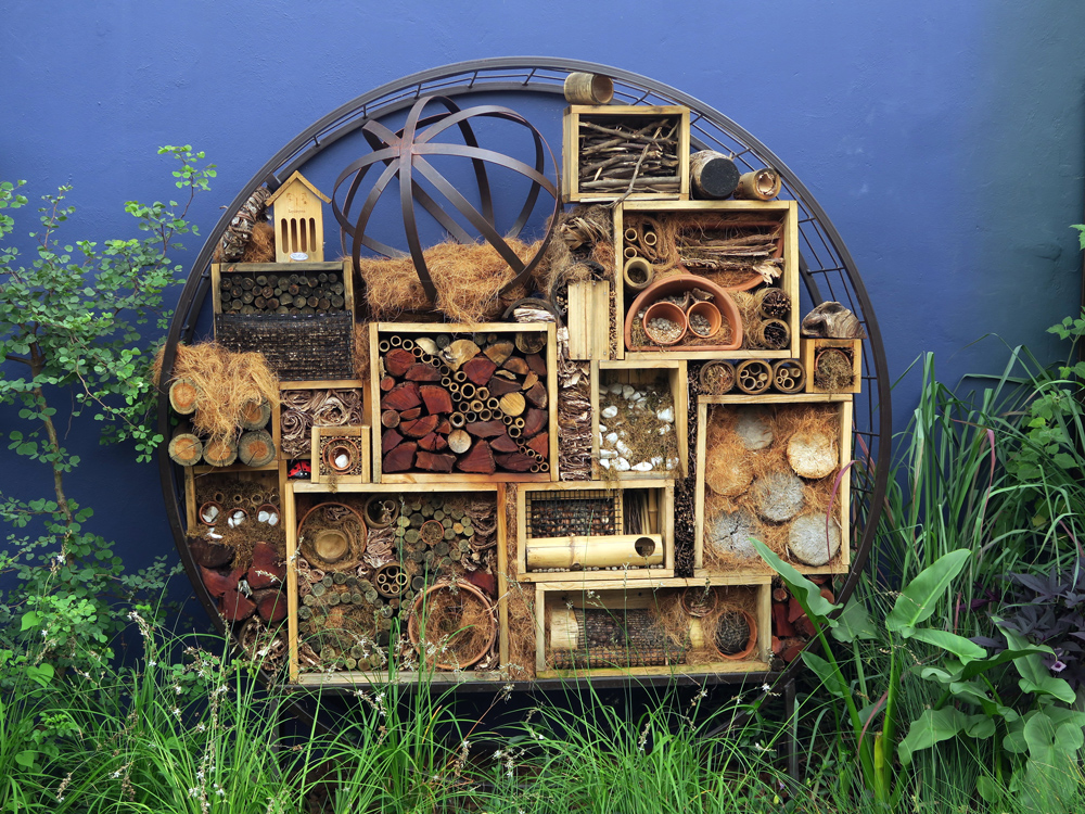 Insect Hotel - designed and created by Maria Papoutsis and the students of the Lifestyle College.