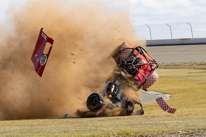 Rob Gearing Lotus crash