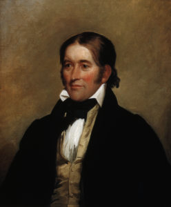 The real Davy Crockett. Portrait by Chester Harding