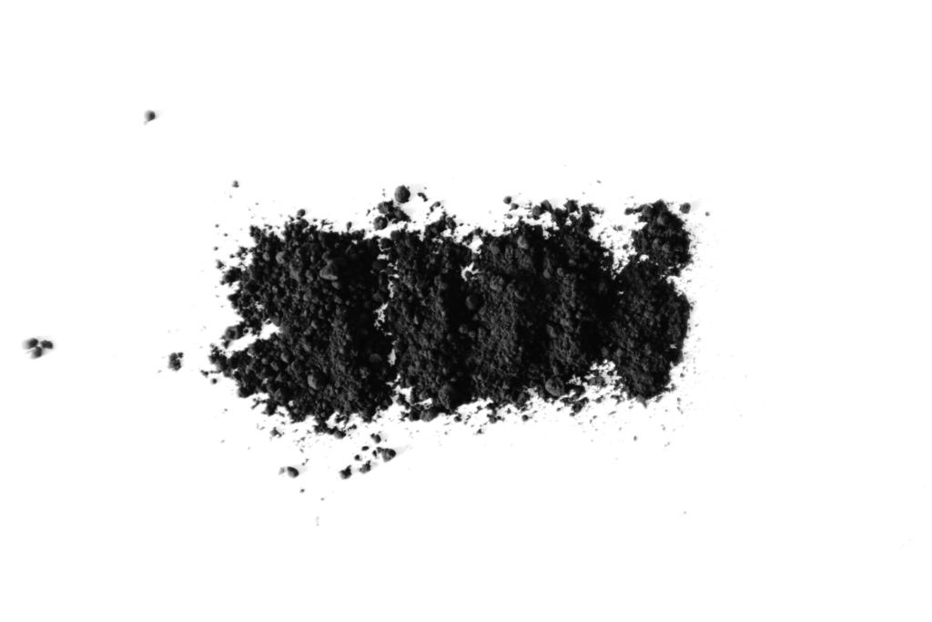 Fine black activated charcoal powder