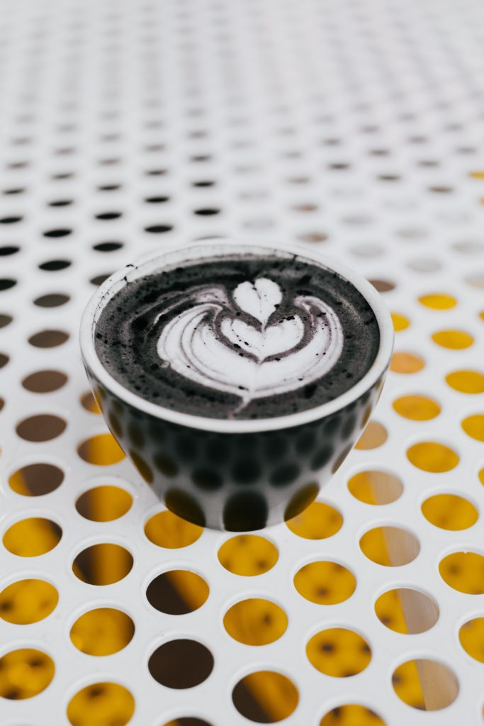 Activated charcoal cuppa
