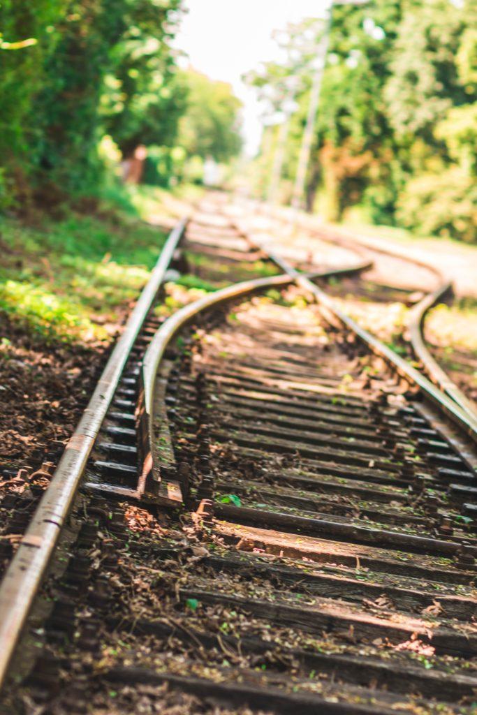 Railway lines - changing direction. Christopher Beddies Unsplash image