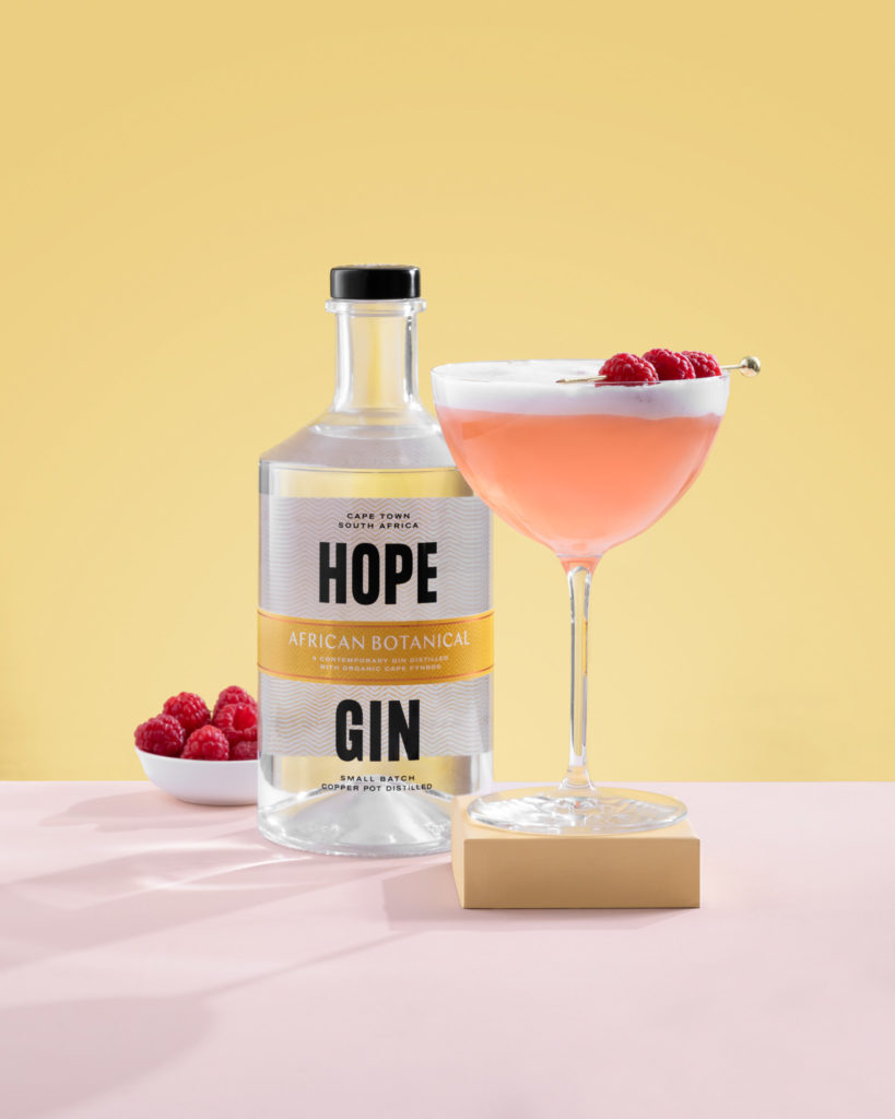 gin cocktail clover club and hope african botanical gin