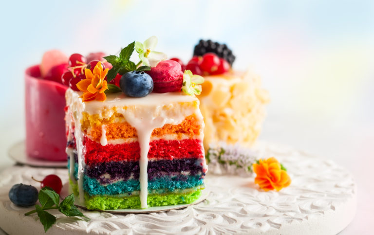 Multi-layer cake with icing