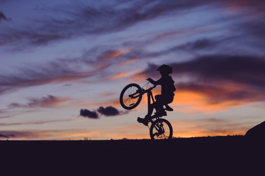 Boy on a bike - exercise