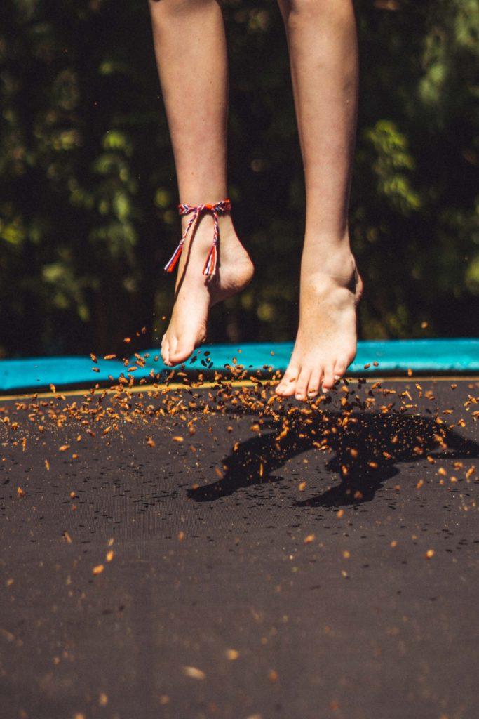 Trampoline jumping - activity